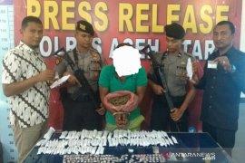 Pengedar sabu di Aceh Utara ditembak, 251 paket narkoba diamankan