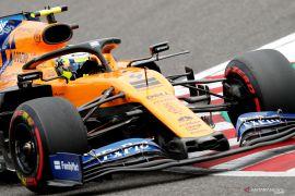 Formula 1: Norris kenakan helm spesial kreasi fan cilik di Grand Prix Britania