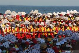 Persiapan festival Gandrung sewu