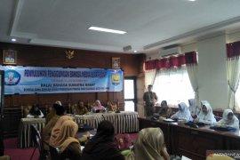 Penggunaan Bahasa Indonesia Balai Bahasa dorong pada media luar ruang