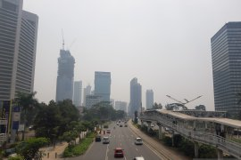 Di Jakarta, kualitas udara Jumat pagi tidak sehat untuk kelompok tertentu
