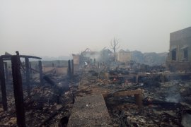 Puluhan rumah di kota tua Palembang terbakar