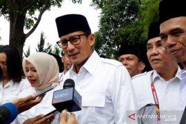 Sandiaga tegaskan tidak minta posisi saat hadiri Rapimnas Gerindra