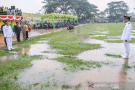 Diguyur hujan, upacara HUT Padangsidimpuan berjalan lancar