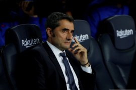 Pelatih Barcelona Ernesto Valverde merasa Barcelona kurang tenang