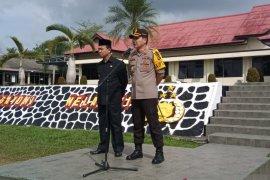 Kapolres Bangka beri apresiasi masyarakat dukung pelantikan presiden