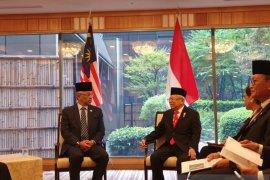 Wapres Ma'ruf bertemu Raja Malaysia di Tokyo