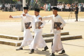 Ratusan Santri Ikuti Upacara HSN Tingkat Kabupaten Lebak