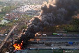 Pasca-kebakaran, Pertamina tuntaskan penanganan kerusakan pipa Cimahi