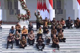 Presiden Jokowi umumkan nama-nama Kabinet Indonesia Maju