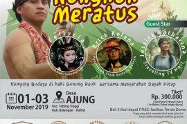 Ayo kemping bersama warga Dayak pada acara Rungkuk Meratus
