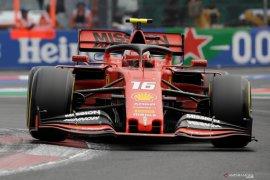 Leclerc start terdepan di GP Meksiko setelah Verstappen terkena penalti