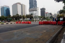 Jalan Medan Merdeka Barat kembali ditutup antisipasi demo
