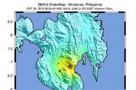 Gempa Mindanao Filipina dirasakan hingga Indonesia