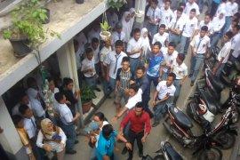 Tawuran pelajar di SMA 8 Medan, satu luka serius