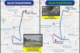 Bus sekolah Kota Mataram mulai beroperasi