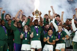 Afrika Selatan raih gelar juara Piala Dunia Rugby setelah taklukkan Inggris