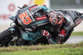 Quartararo pole position GP Malaysia, Marquez terjatuh