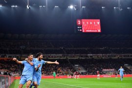 Lazio akhiri puasa kemenangan 30 tahun di kandang Milan