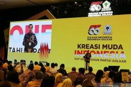 Presiden Jokowi hadiri peringatan HUT Ke-55 Golkar