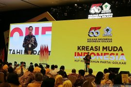 Presiden Jokowi ingatkan Golkar tetap solid
