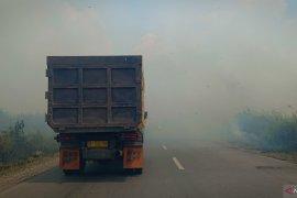 Pembakaran lahan masih terjadi