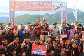 Tim Yonif 8 Marinir Brandan terbaik di Samosir Sport Tourism