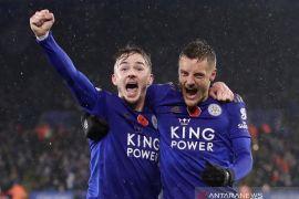 Bungkam Arsenal, Leicester rebut posisi kedua klasemen Liga Inggris