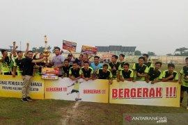 HST juara pertama turnamen sepak bola Paman Birin Cup 2019