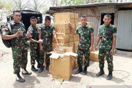 Tembakau ilegal, Satgas Pamtas Yonif R 142/KJ gagalkan penyelundupan