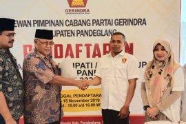 Timses Irna Narulita ambil formulir pendaftaran di DPC Gerindra Pandeglang