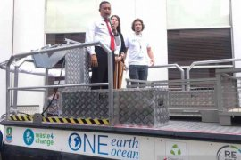 Kota Bekasi jadi daerah percontohan pertama penggunaan kapal pembersih sungai