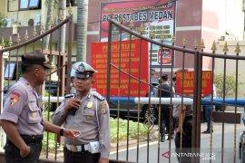 Bom Medan, Brimob jaga ketat Polrestabes Medan