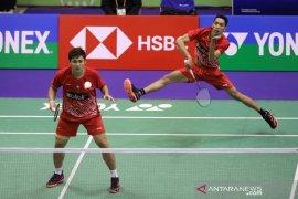 Tim beregu putra bulutangkis Indonesia raih medali emas
