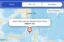 Tsunami terdeteksi di Ternate dan Bitung