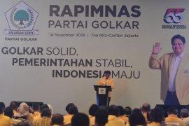 Ketum Golkar Airlangga ajak kader kerja keras sukseskan program Jokowi