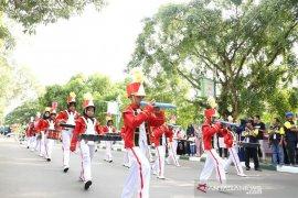 HSS tuan rumah Lomba Drumband Paman Birin Cup 3