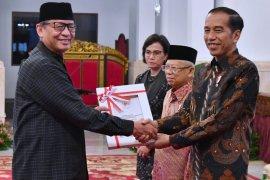 Gubernur Wahidin Halim Menerima Langsung Anggaran DIPA Dan TKDD Tahun 2020 Dari Presiden Joko Widodo