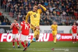 Eden Hazard kirim assist untuk adiknya, Belgia Menang
