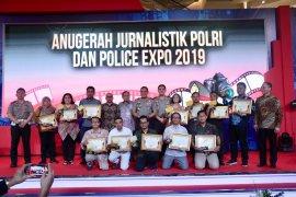 Dua pewarta LKBN ANTARA raih penghargaan Anugerah Jurnalistik Polri 2019
