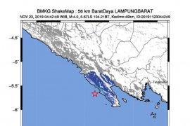 Gempa magnitudo 4,0 di Lampung Barat, BMKG:  Tidak berpotensi  tsunami