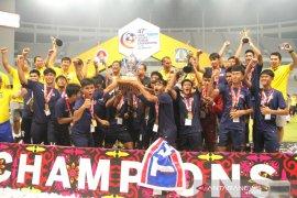 Bekuk Malaysia, Thailand pertahankan gelar juara Sepak Bola Pelajar Asia