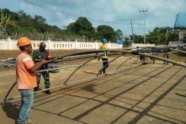 Kotabaru Military deploys personnel to help fire victims in Sebuku