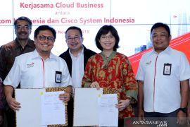 Telkom jajaki kerja sama bisnis cloud dengan Cisco