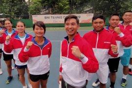 Pada SEA Games Filipina 2019, para petenis Indonesia jadi unggulan pada tiga kategori cabor tenis