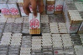 Bea Cukai Malang sita puluhan ribu batang rokok ilegal
