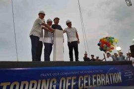 Transpark Juanda Bekasi gelar topping off pembangunan tower pertama