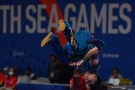 Tujuh jahitan di lengan tak hentikan atlet Sumut ini bawa pulang perak wushu SEA Games