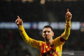 Gol ke gawang Atletico, Messi antar Barca kembali ke puncak klasemen