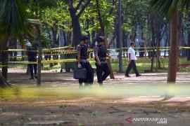 Polisi dan TNI telusuri asal granat asap di Monas